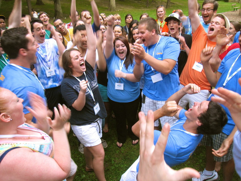 Jill Novak winning the 2012 Counselor Training Rock Paper Scissor Tournament