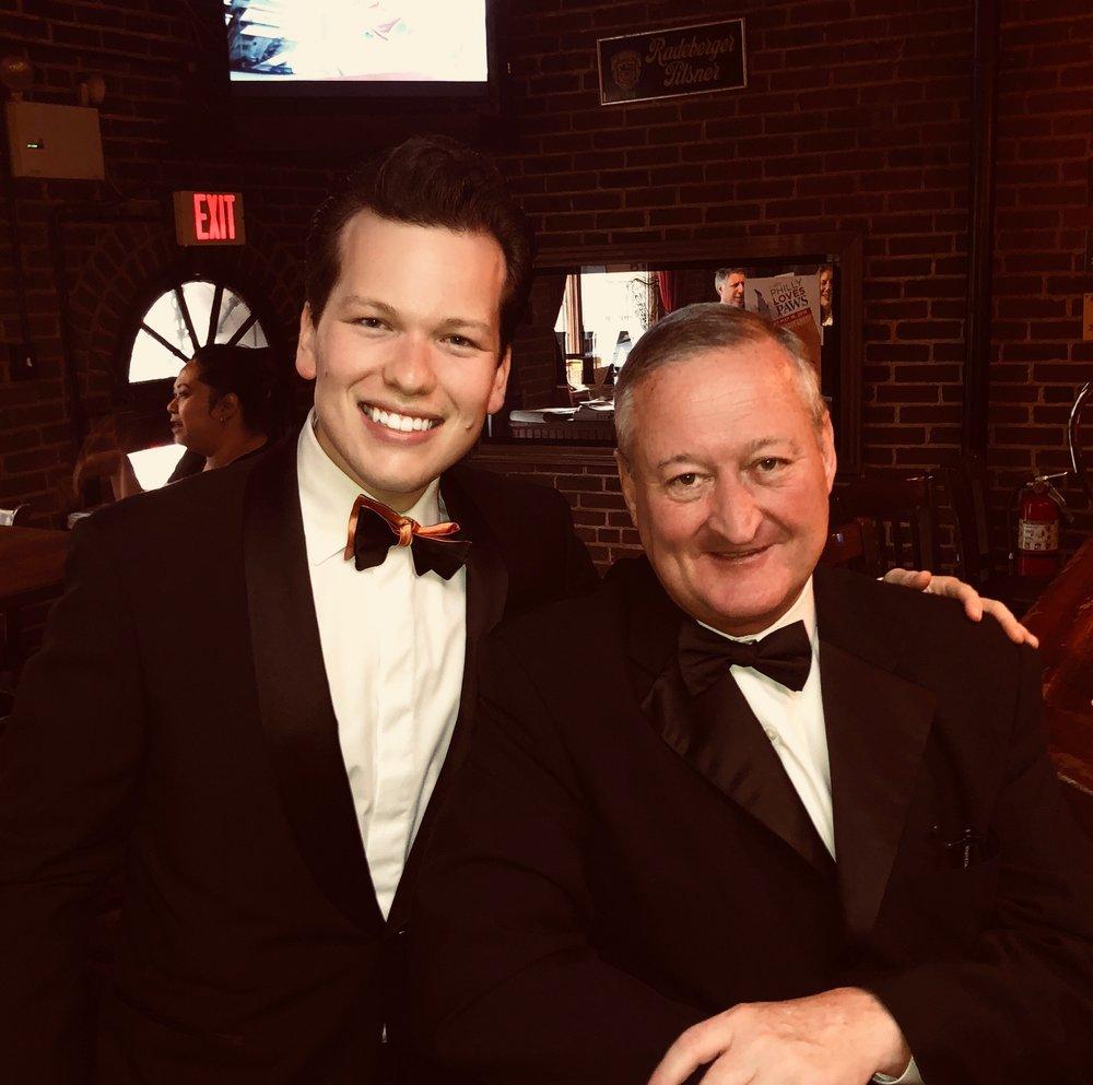 PALS Programs Board Member Garrett Snider and Philadelphia Mayor Jim Kenney