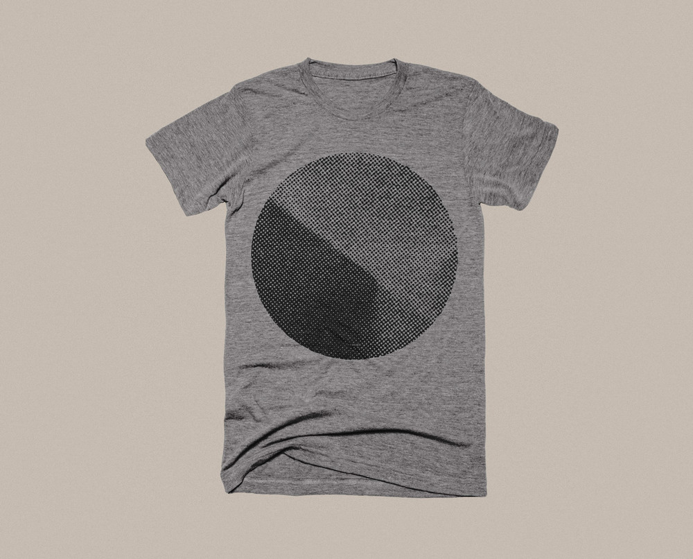 Bella + Canvas Unisex TriBlend Grey T-Shirt screen printed with water based inks by Norman Roscoe Printmakers (Denton, Tx).