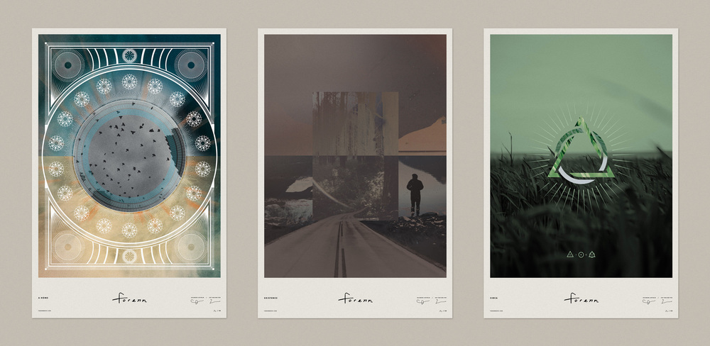 Artist Series Collaboration Posters (L-R): Ryan Booth & Micah Bell, Zac Van Der Ven & Salomon Ligthelm, and Shawn Roller & Peter Voth