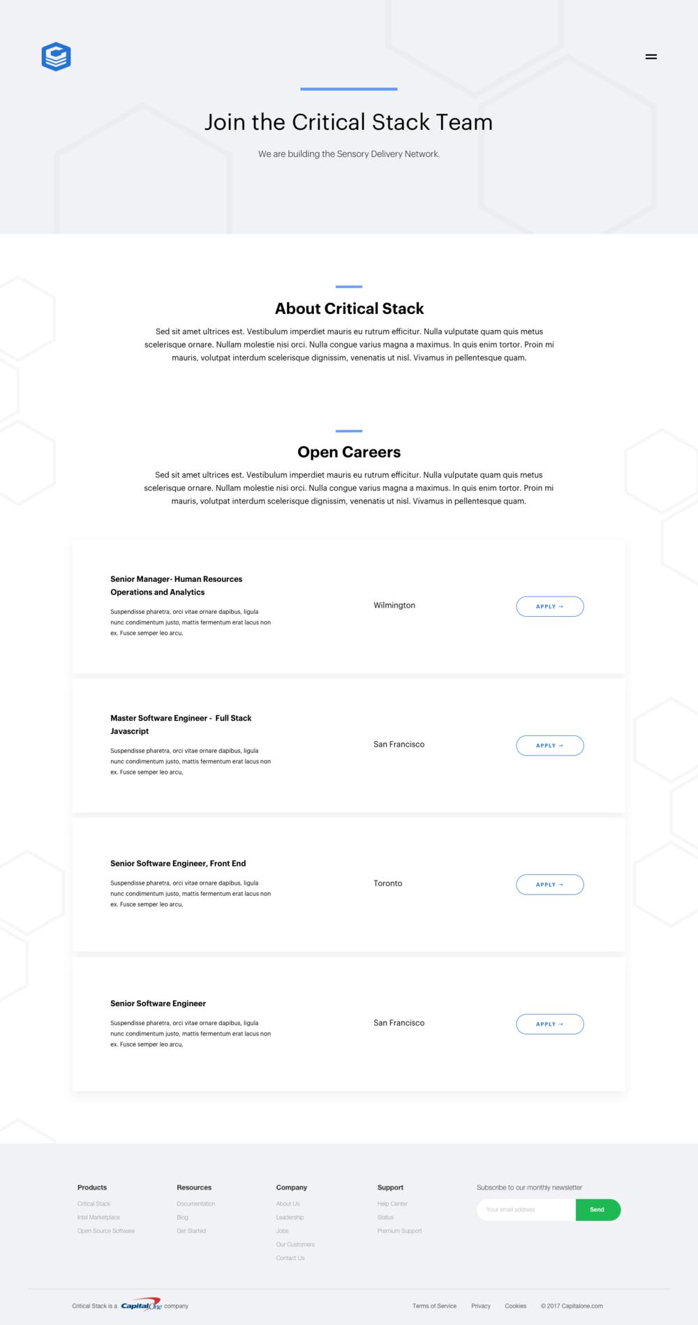 Jobs Page: Minimal Version