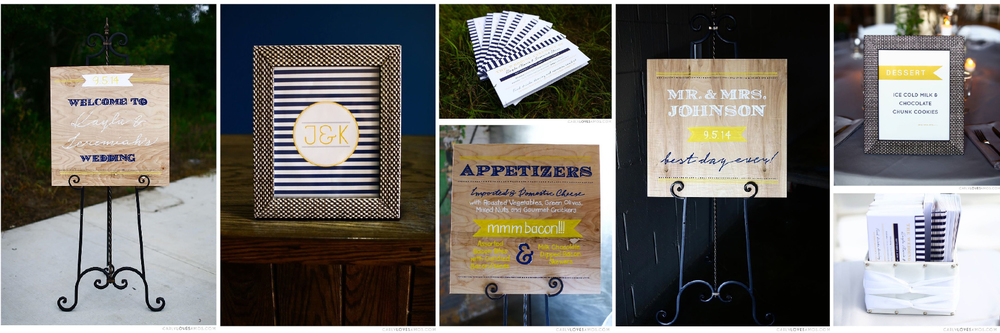 Custom Hand Lettered Signs + Stationery for Wedding Ceremony & Reception