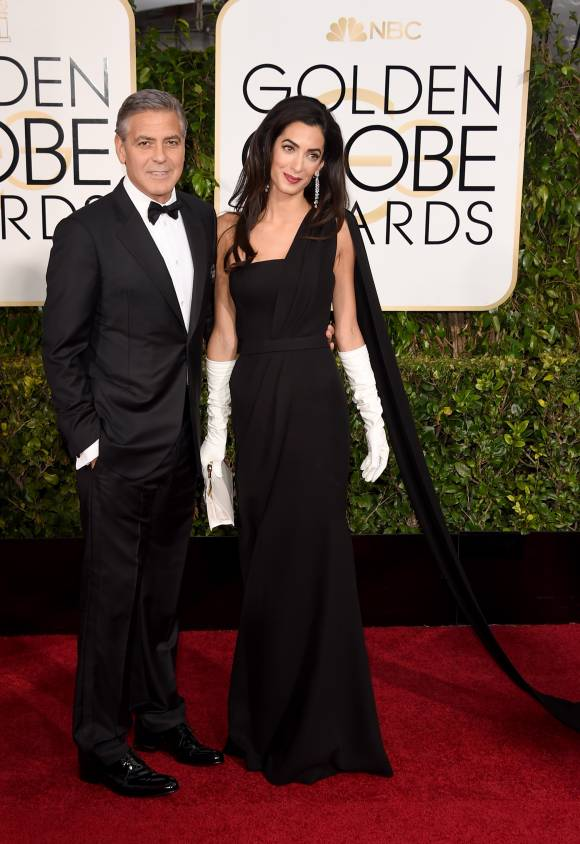George Clooney and wife Amal Clooney in Dior