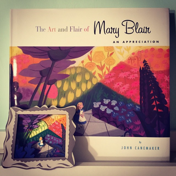"Alice in Wonderland   is one of Blair's most beloved works. Also, ""The Art and Flair of Mary Blair"" by the amazing animator  John Canemaker , is a must have on any artist's book self."
