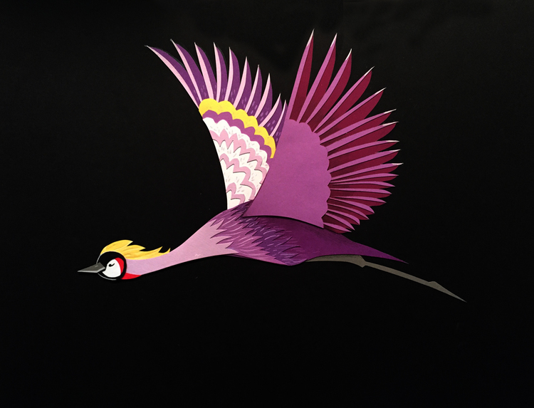 I've always loved the gracefulness of birds but I find that other creatures are appealing in different ways. Whether it be the sensualness of an otter, the sweetness of a bear, or the elegance of a tiger, each has its own magical charm. Colors against a black background are very appealing to the eye, especially when the designs are simple and graphic.