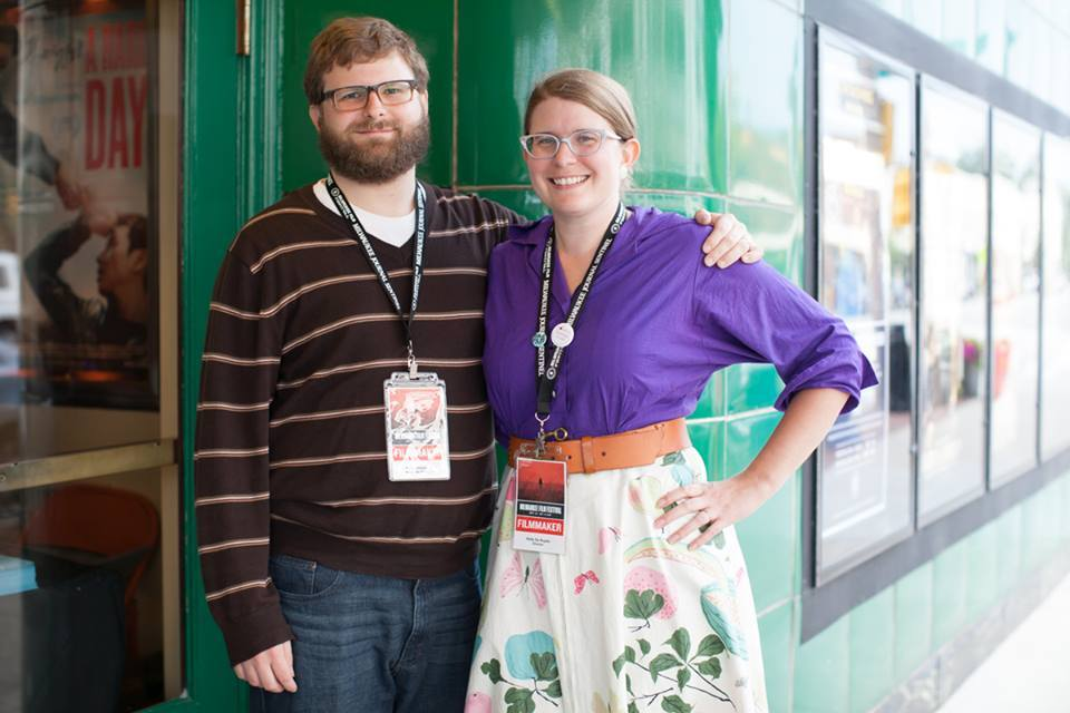 Associate Producer, Brian Risselada and Director, Holly L. De Ruyter at the Milwaukee Film Festival. Photo Courtesy of the Milwaukee Film Festival.