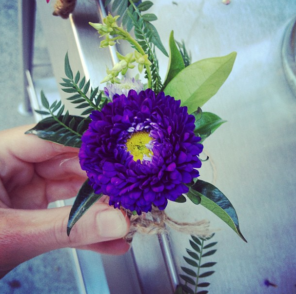 a bittersweet boutonniere