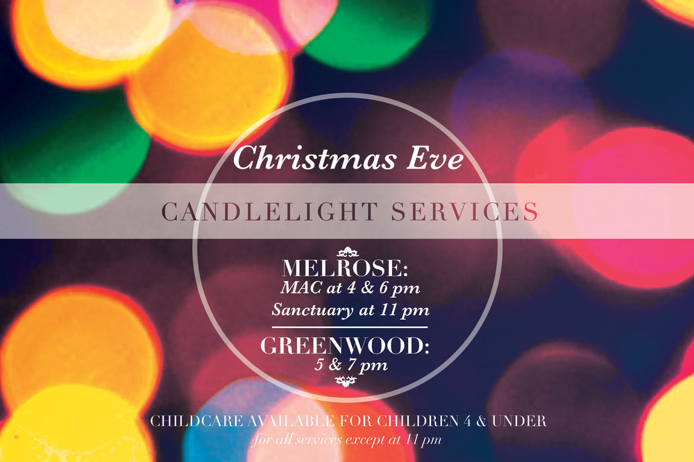 Postcard Design for Christmas Eve Services