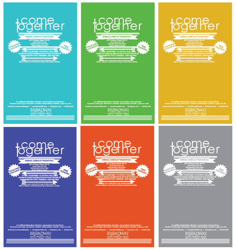 Event Branding--Come Together Posters