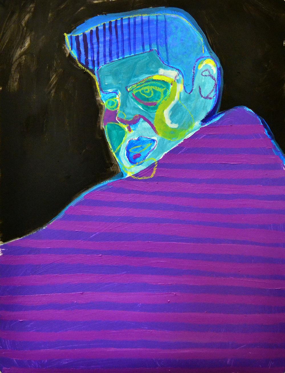 """Far Enough  acrylic, oil, pastel on paper 18"""" x 24"""""""
