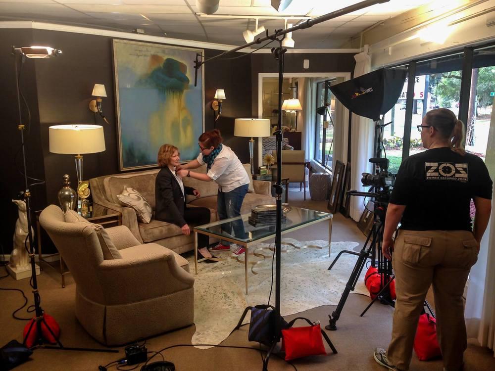 On set at Georgia Furniture & Interiors