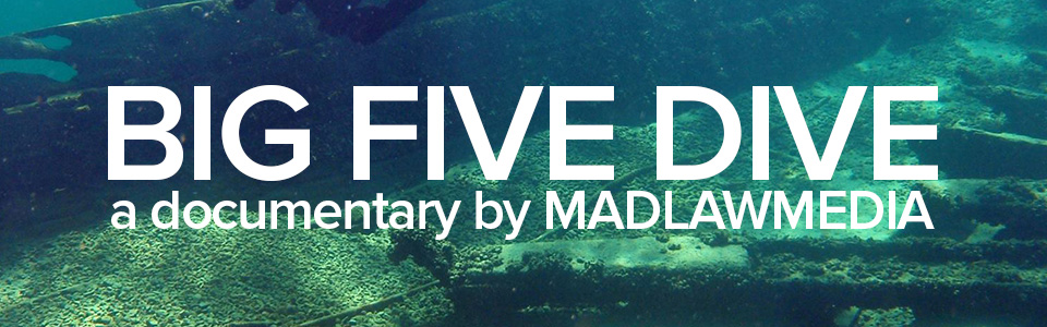 If you'd like to learn more, visit  www.bigfivedive.com . Facebook page coming soon!