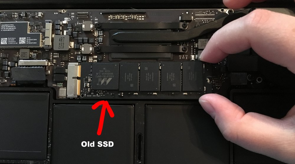 Carefully remove the old SSD