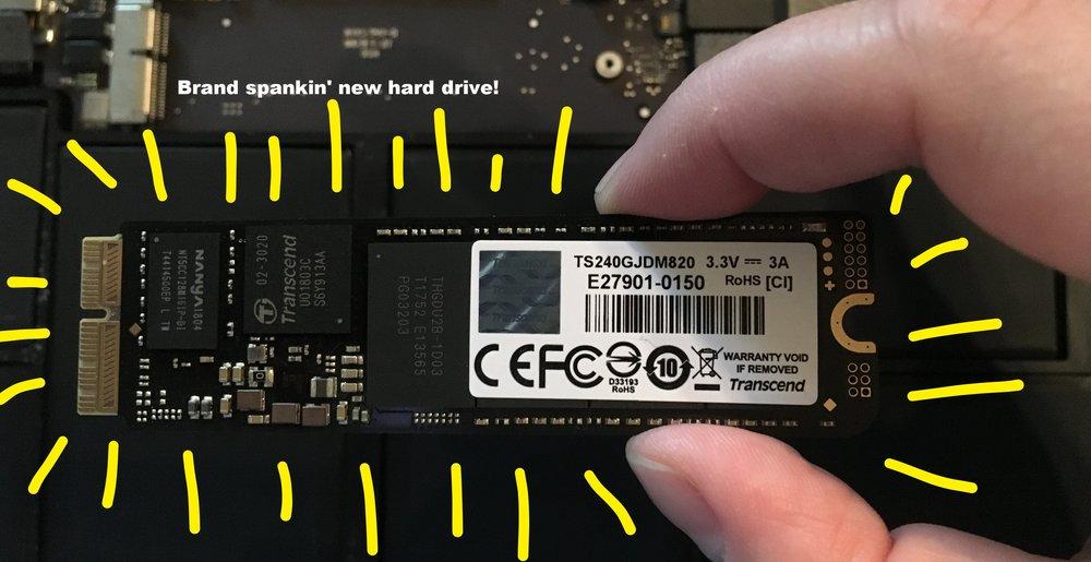 New hard drive!