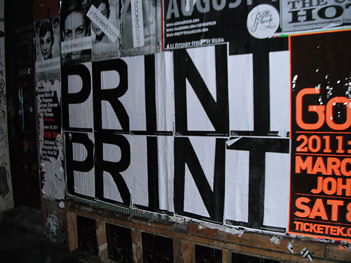 PRINT  commercial poster   dimensions variable