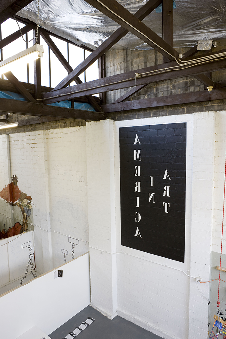 America in Art  commercial sign writing  10 x 2m