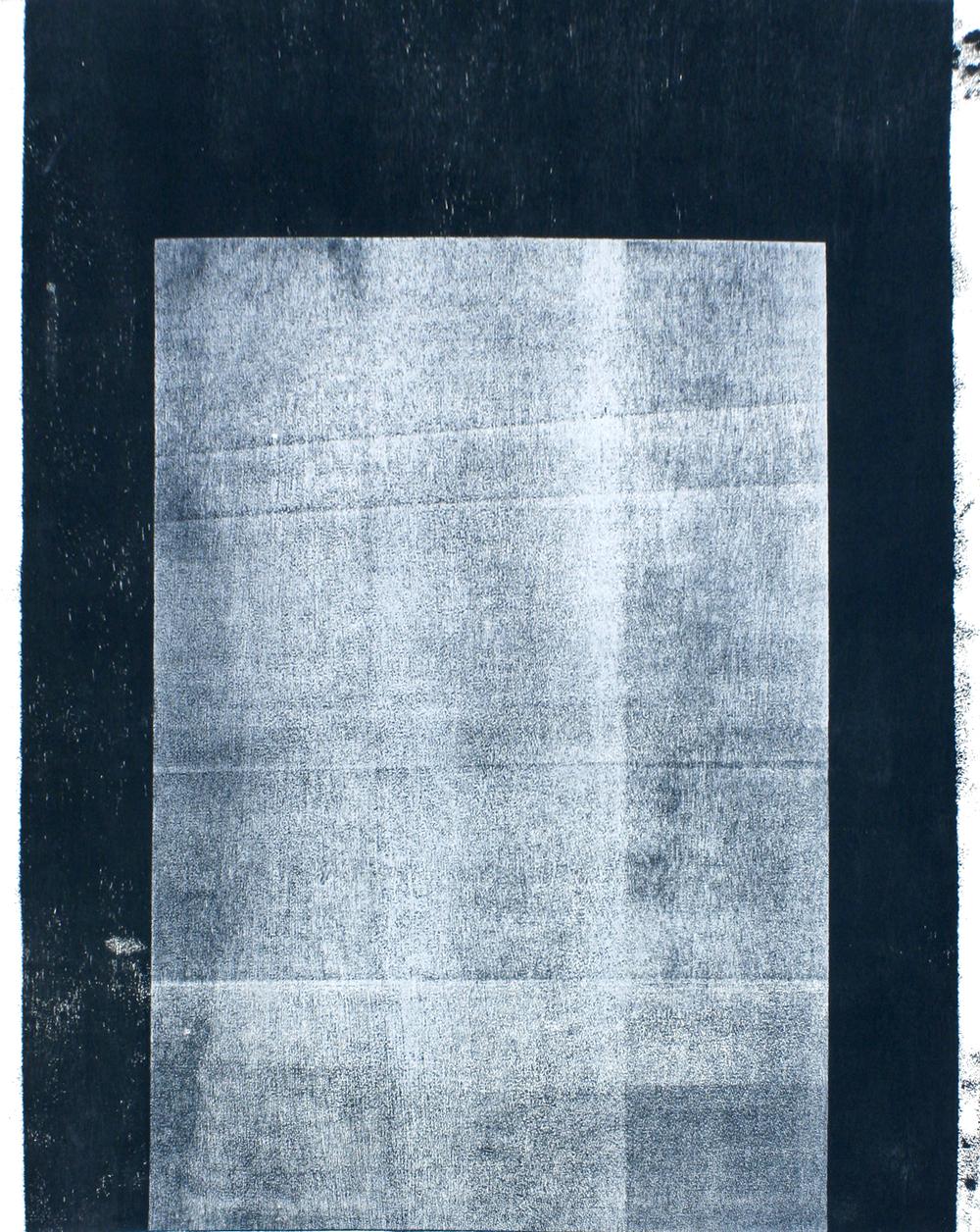 Unique state  wood block print on paper  120 x 90cm
