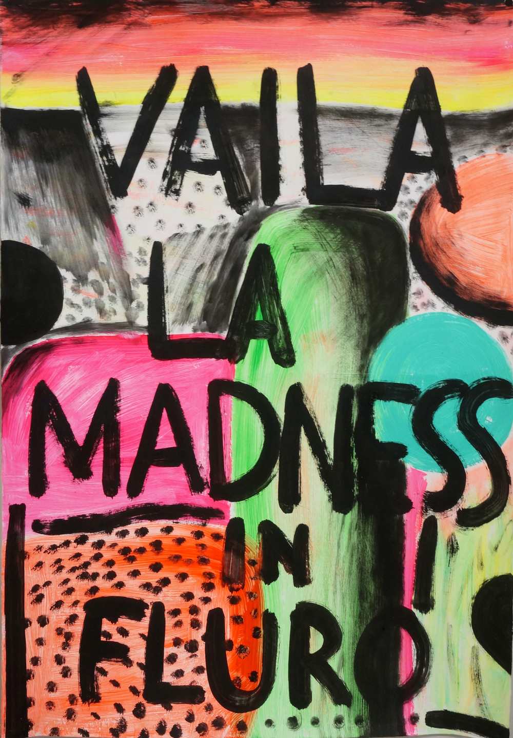 Vailla madness  acrylic on Magnani paper  110 x 76 cm