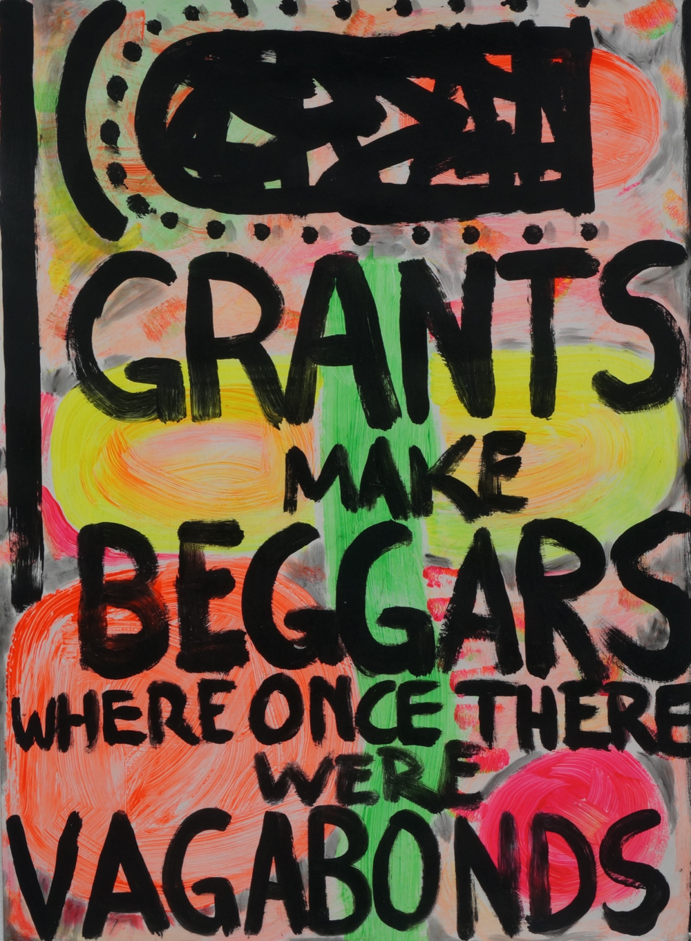 Grants  acrylic and oil on Magnani paper  76 x 110