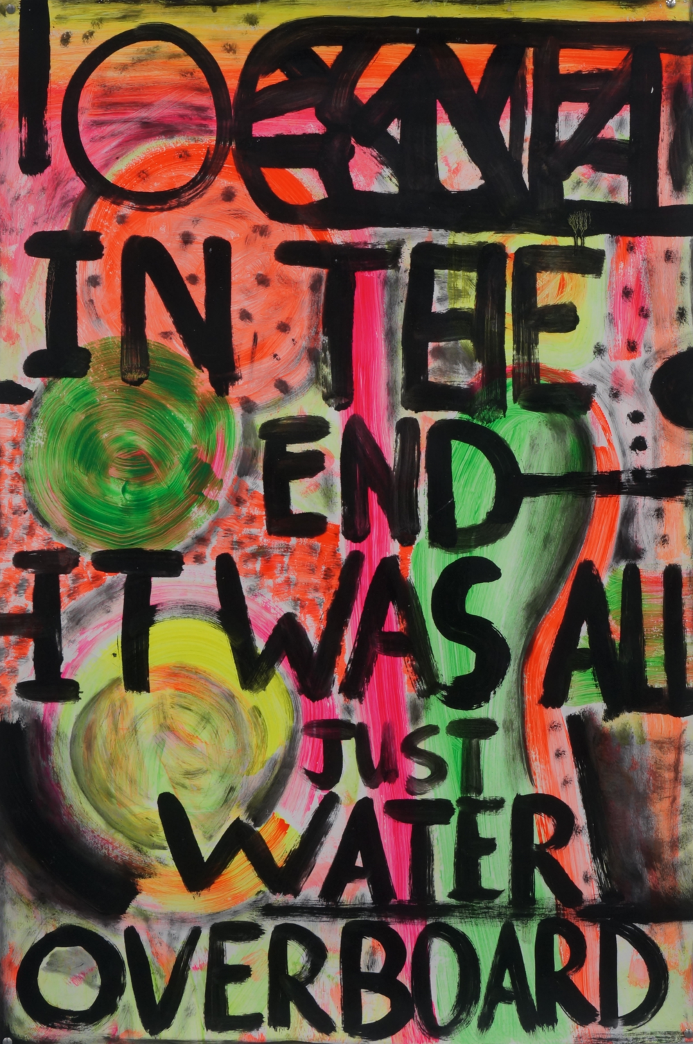 Water overboard  acrylic and oil on Magnani paper  76 x 110 cm