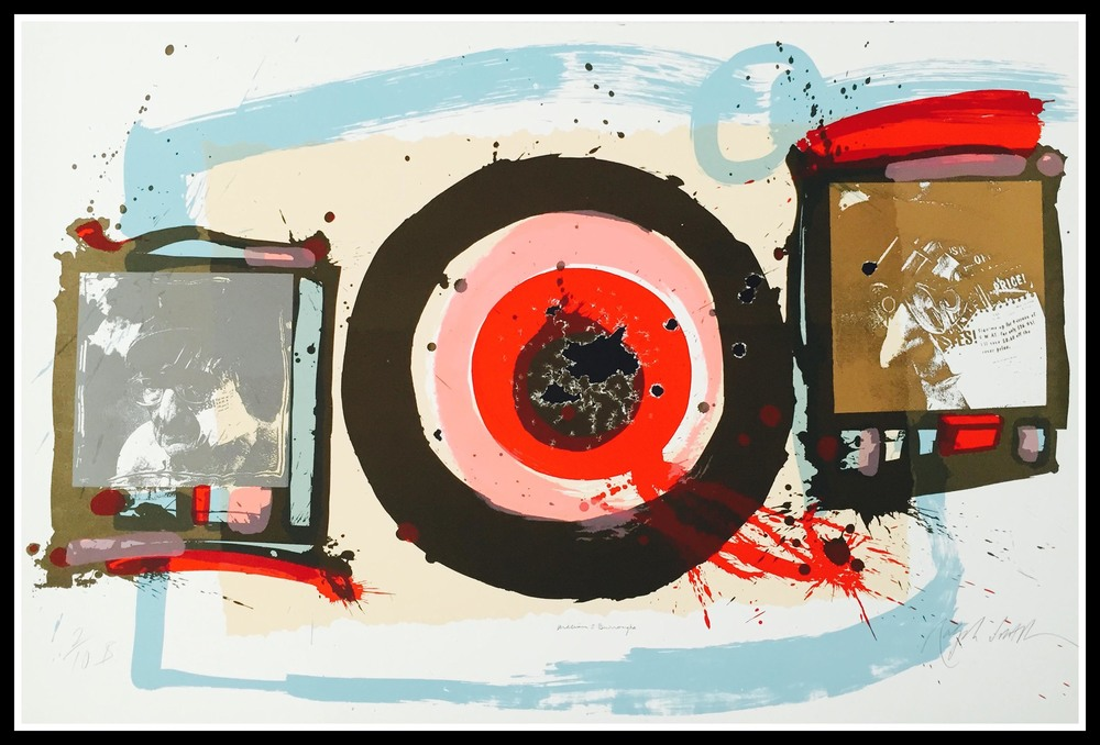 Something New Has Been Added - 2/10 B - Seven Color Silkscreen signed by Ralph Steadman. Shot and signed by William S. Burroughs.