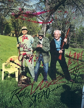 Printmaker Joe Petro III, William S. Burroughs and Ralph Steadman. The Burroughs Gang.