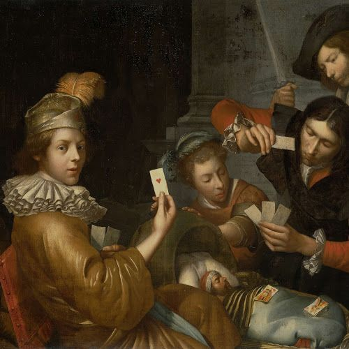 The Card Game on the Cradle: Allegory, Johannes van Wijckersloot, 1643 - 1683