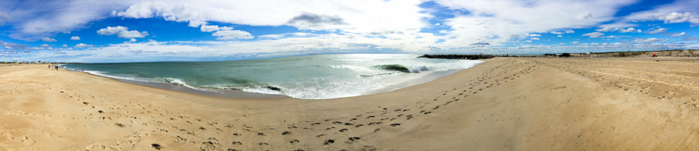 Pano of a beach in Rhode Island