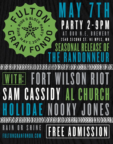 gran fondo flyer and live music lineup