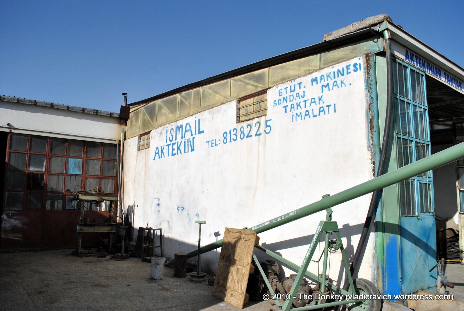 Ismail Aktekin II's shop in Akşahir