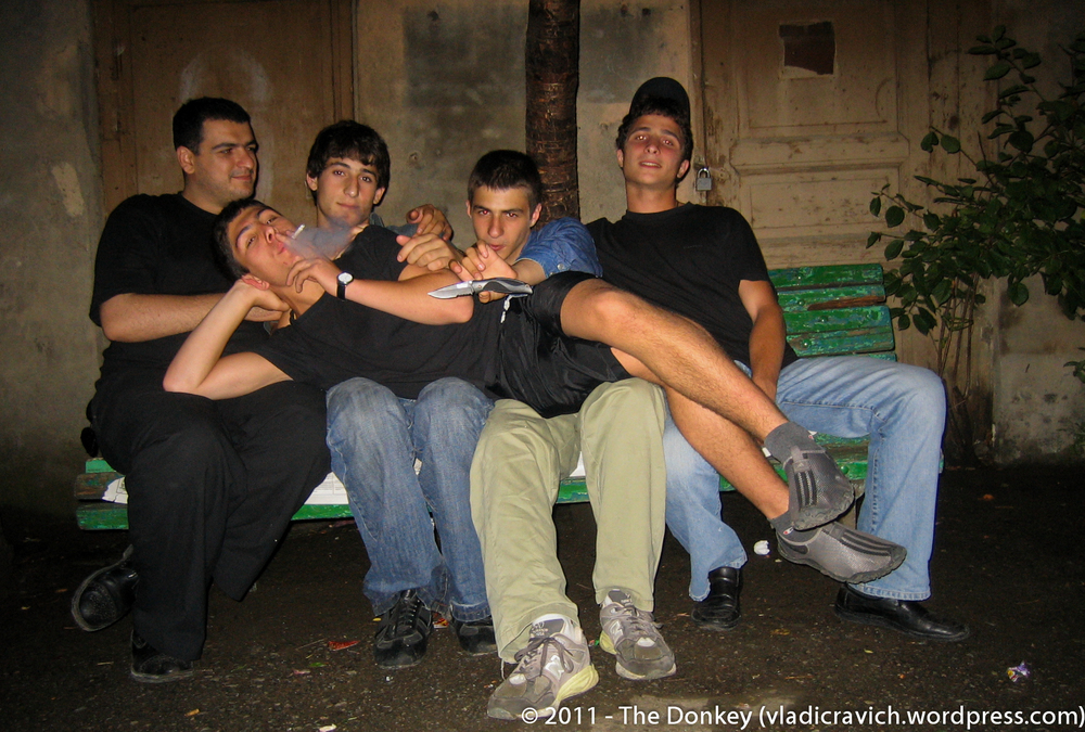 A few young guys in my courtyard (Summer 2005)