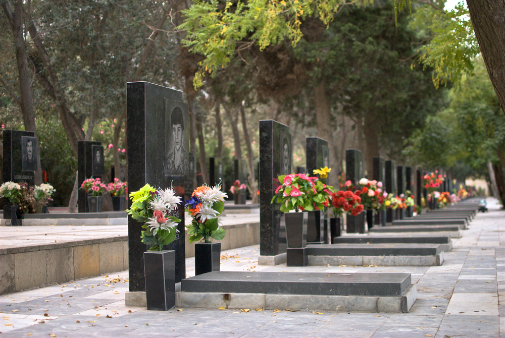 A cemetery with a view of the entire capital. The graves are for the victims of Black January (when Soviet troops opened fire in Baku in January 1990) and the Armenia-Azerbaijan war that followed for the first half of that tumultuous decade.