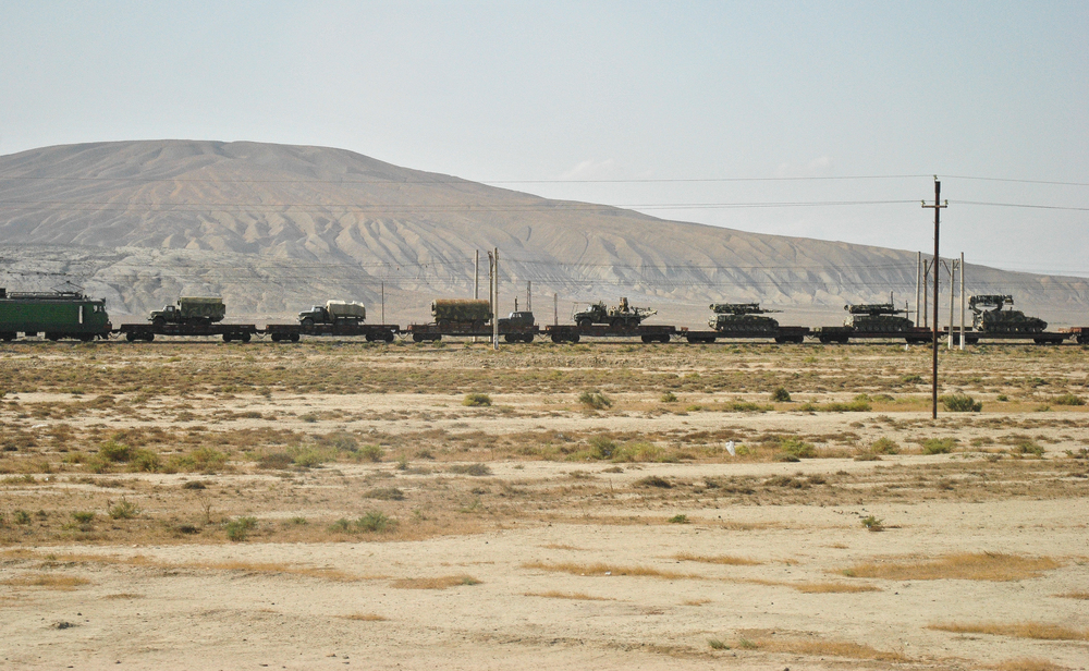 Tanks en route to the cease fire line.