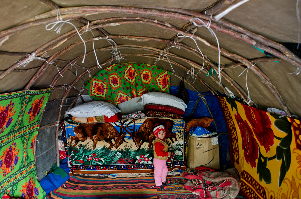Inside a yailak in Xinaliq – a summer residence for shepherds.