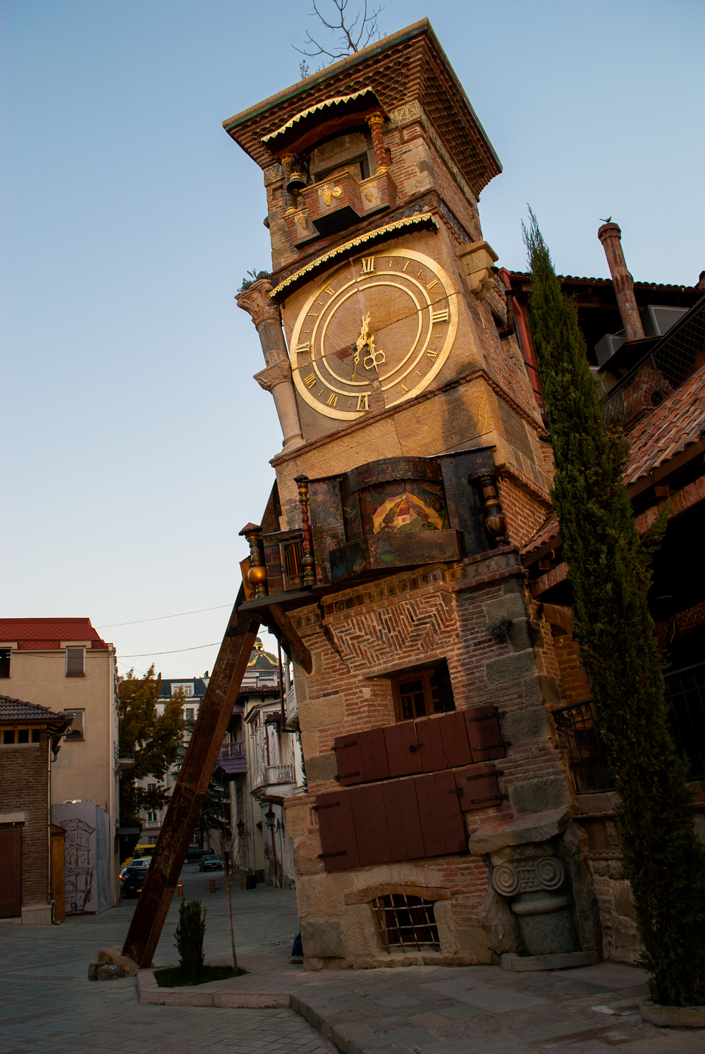Rezo Gabriadze's pet project: a three story clock tower that is perpetually falling down, in Tbilisi. Made by a world famous puppeteer who cobbled it together himself in the street over three years, brick by brick. Read  my story  on this...