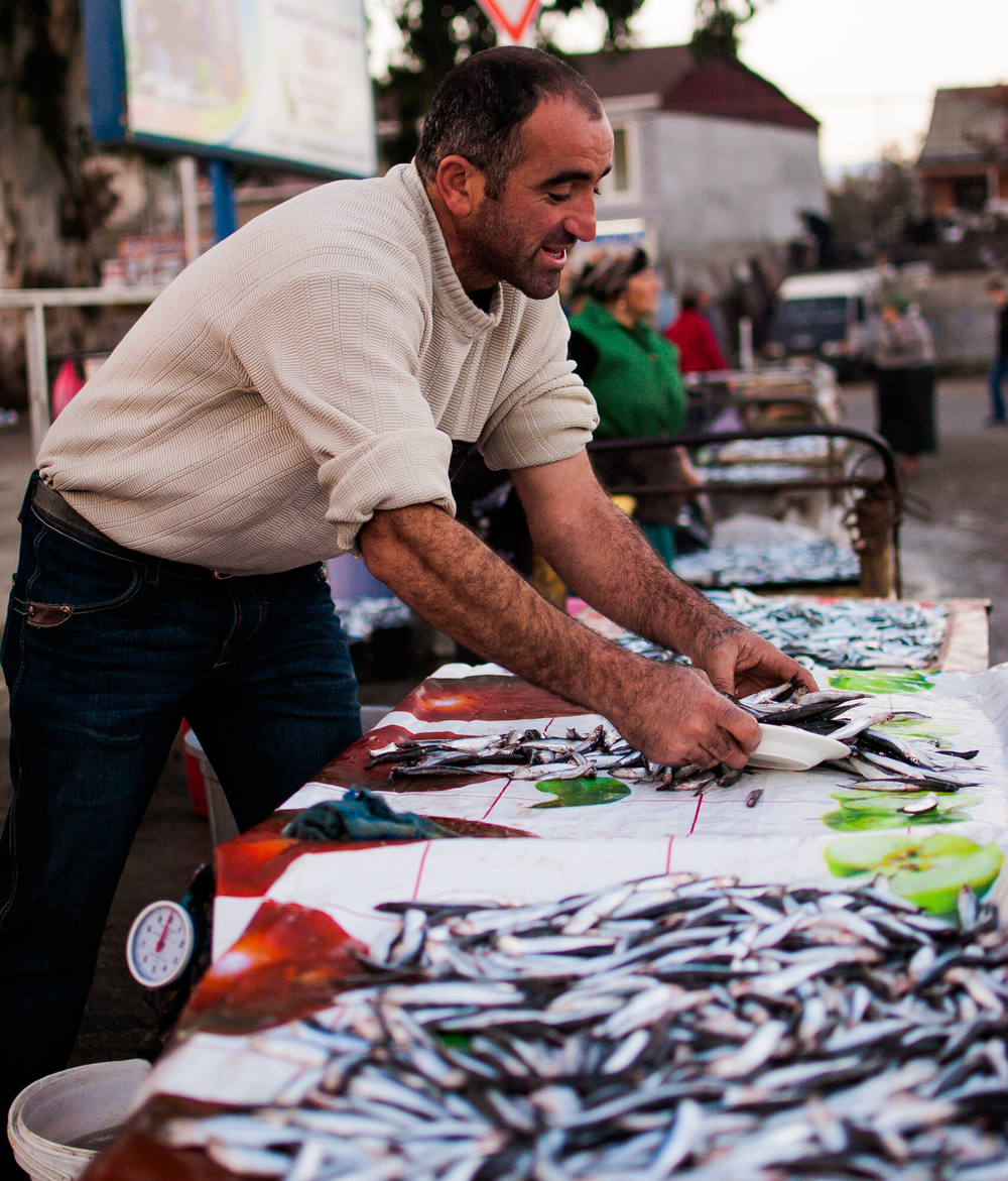 The fish market at the seaside town of Batumi