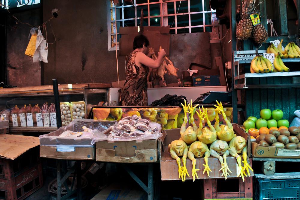 The bazaar (market) in Tbilisi.