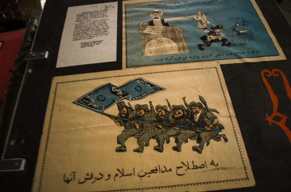 Examples of Soviet propoganda that show the United States funding the radical Islamic Mujahadeen fighters who were resisting the Soviet occupation.