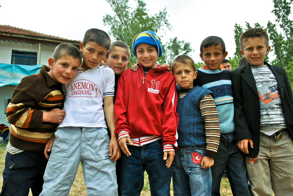 Children at a Turkish wedding in a Bektashi village called Kayab