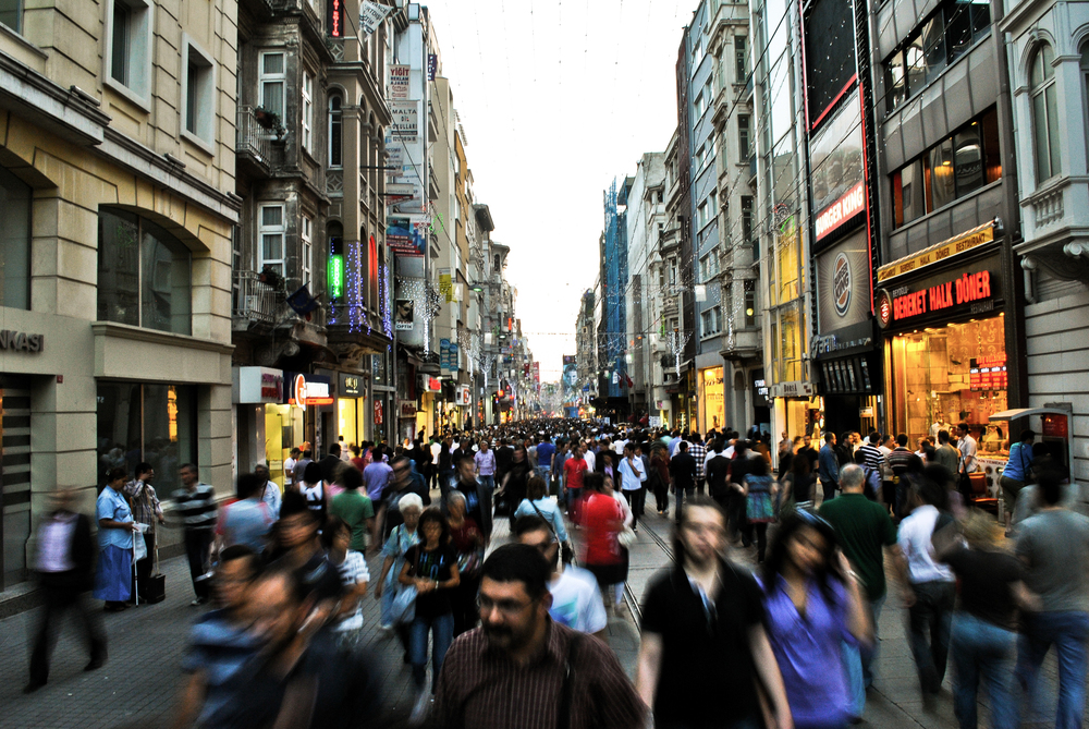 Istiklal Street in Istanbul, one of the biggest cultural hubs in  the city.