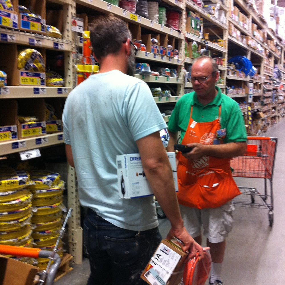 There were lots of trips to Home Depot.  I mean a lot. Probably 20 or more so far. This guy was not very helpful.
