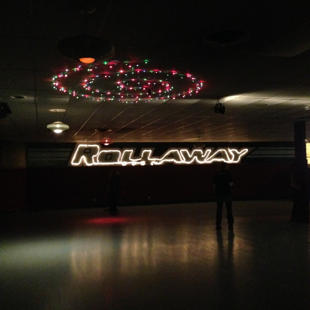 The Rollaway roller skating rink in Lewiston hasn't been updated in about 100 years, approximately. It's pretty awesome. The fact that we went roller skating is also pretty awesome.