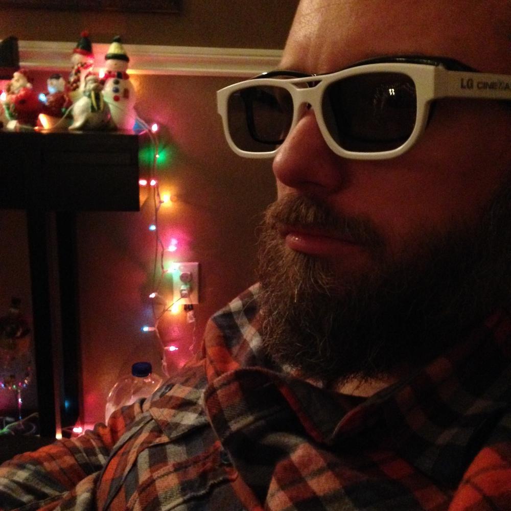 I wear my 3D movie sunglasses at night.