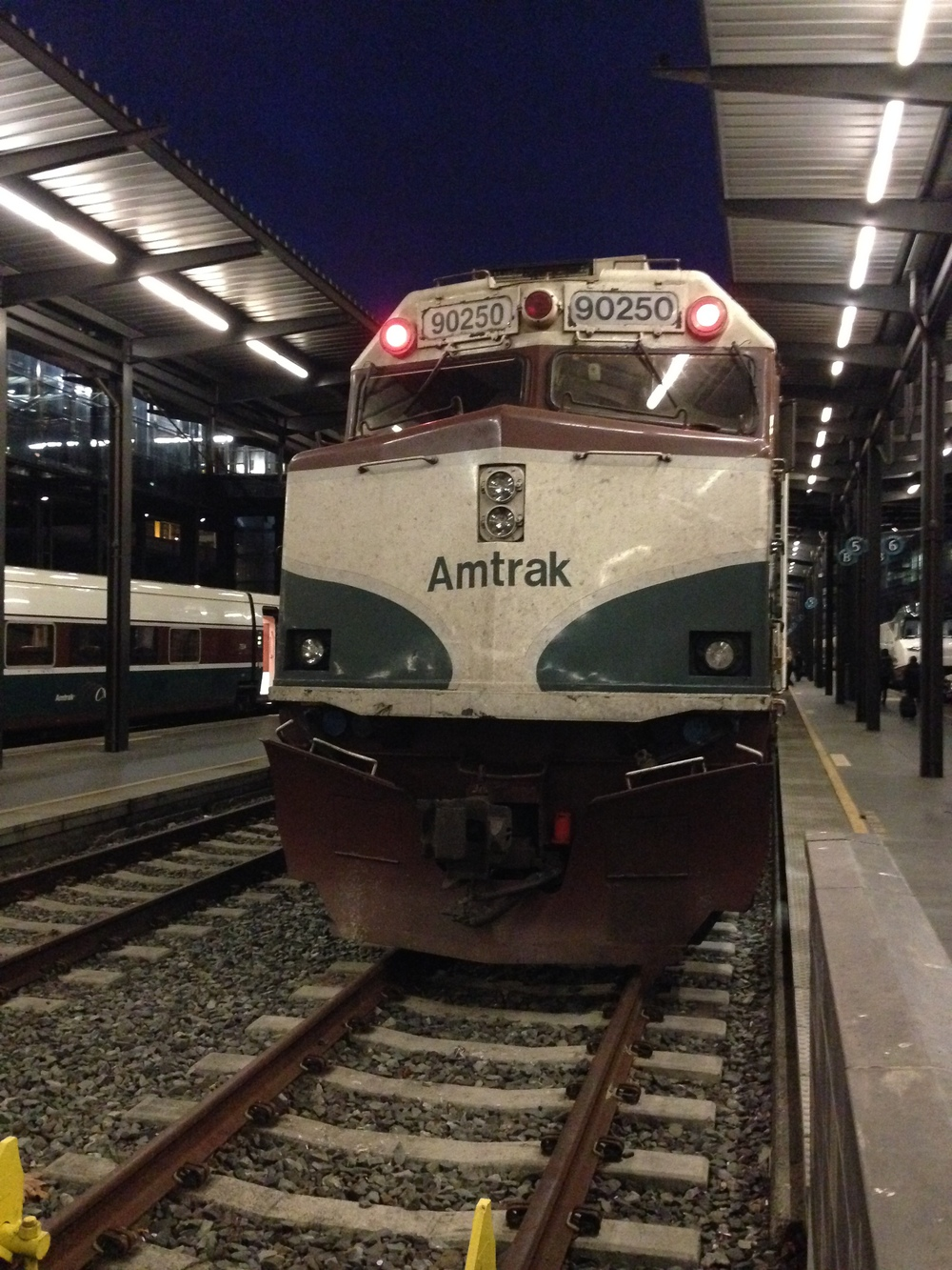 The Amtrak Cascades train - our ride down the coast to Portland.