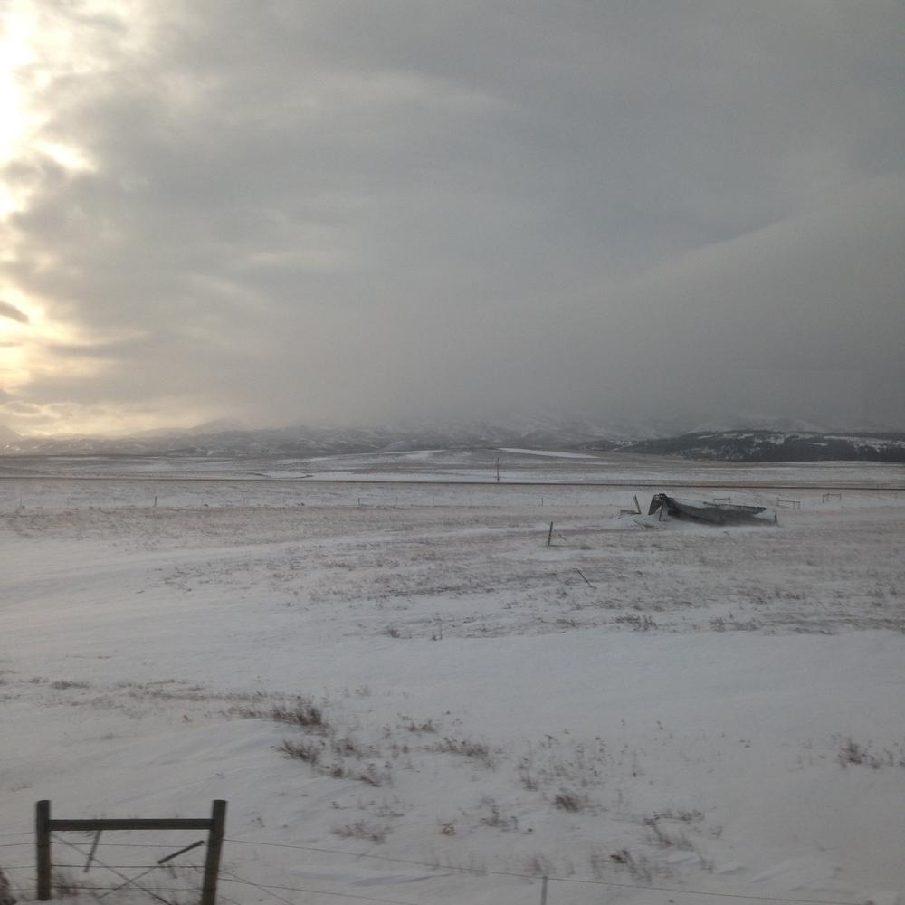 We left the snowy part of northwest Montana for the more arid part of northeast Montana.