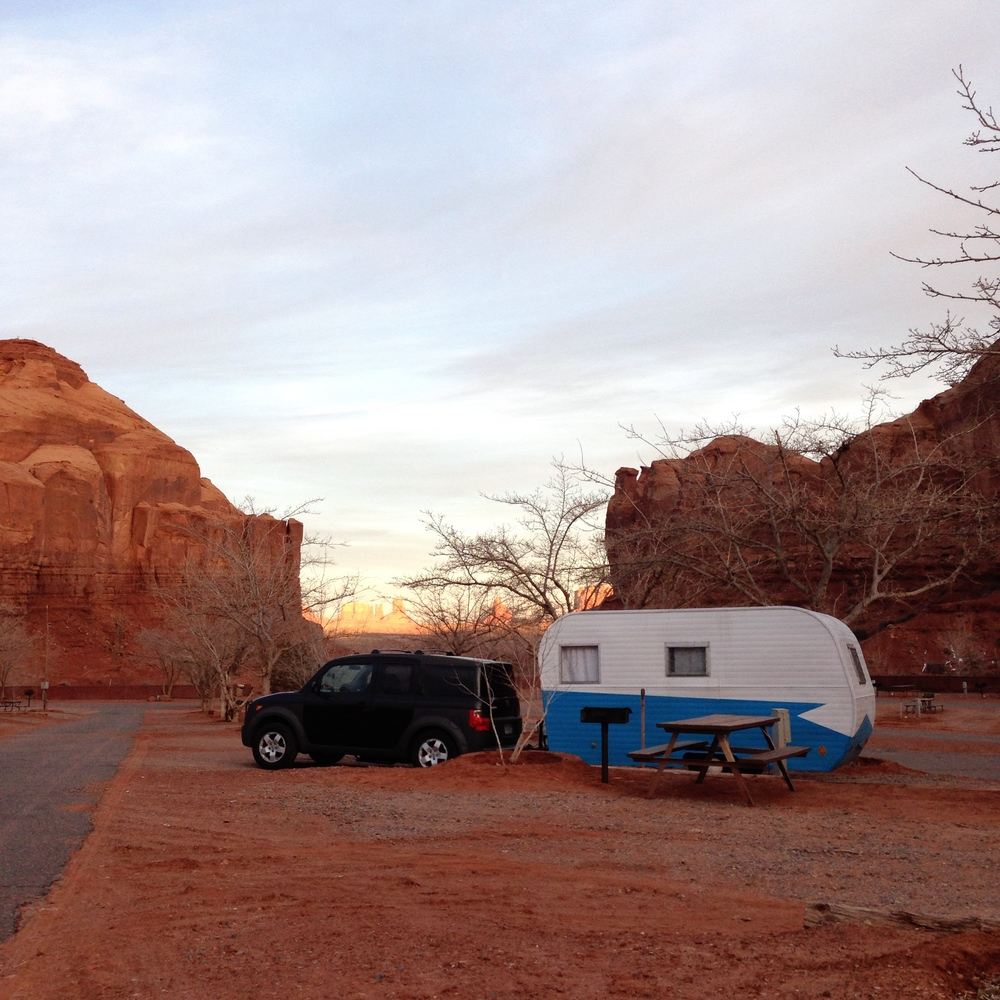 Our campsite at Goulding's lodge, so pretty