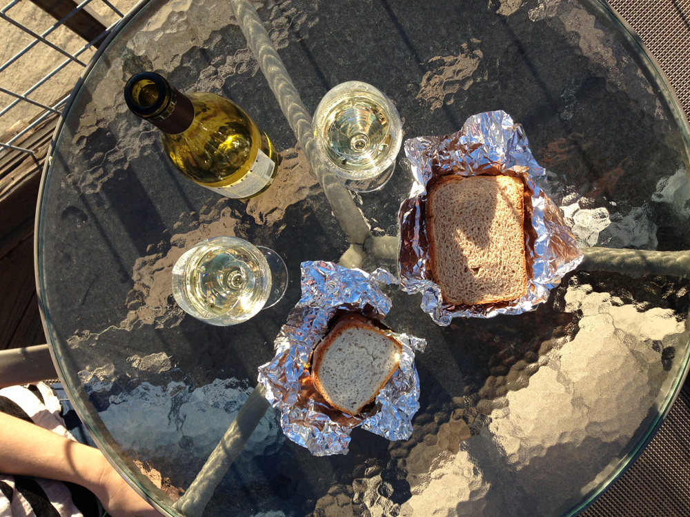 Picnic. Gluten free bread is sad next to normal bread. We are open to suggestions people!