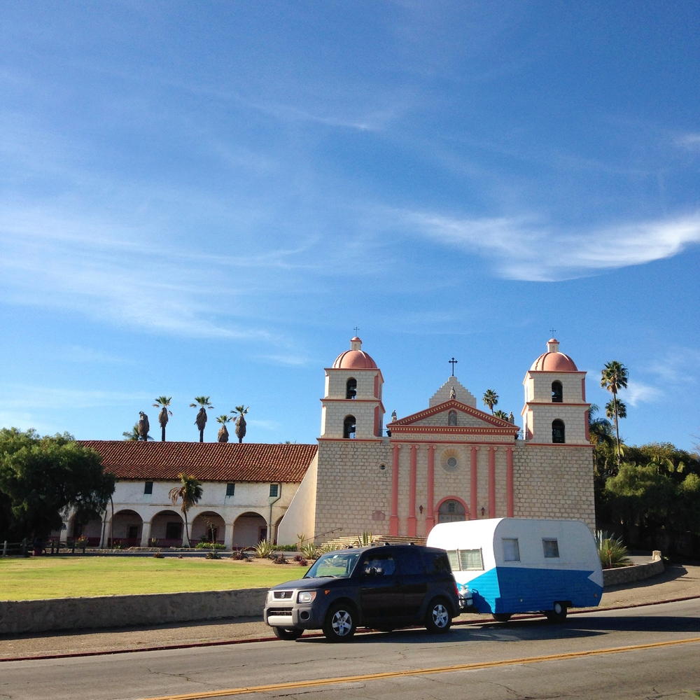 A drive by the Santa Barbara Mission on our way out.