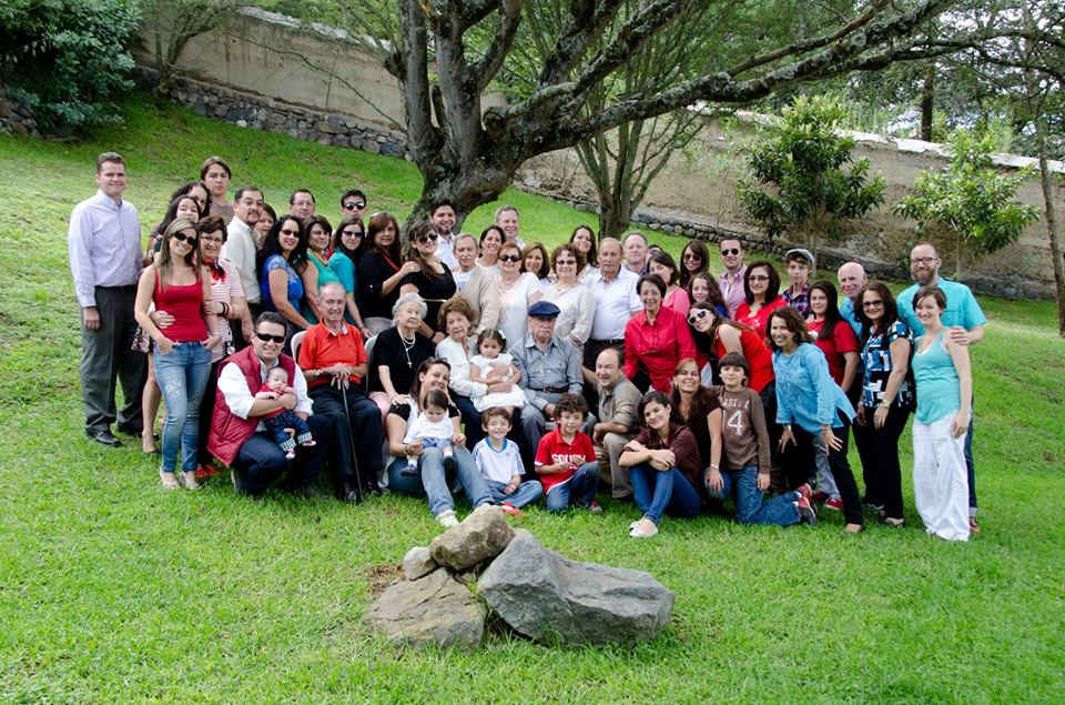 Almost everyone!  We may be missing a few but this is a great representation of my family in Ecuador.  We wore different colors so we would be able to figure out which family people came from.
