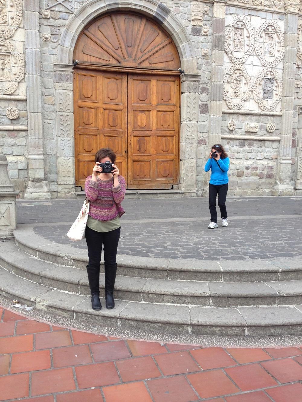 Tourists in Riobamba